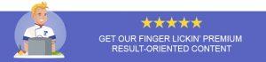 LinkPlate Order Menu Premium Content Banner
