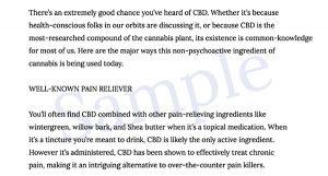 cannabis writing sample 2